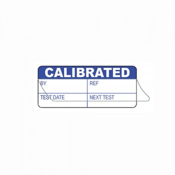 CALIBRATED BY (WRITE & SEAL) LABEL