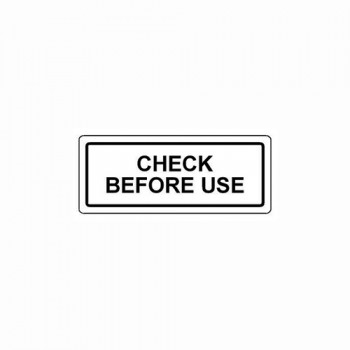 CHECK BEFORE USE LABEL