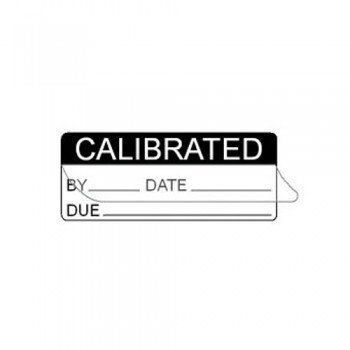 CALIBRATED BY (WRITE & SEAL) LABEL - 3M WHITE VOID