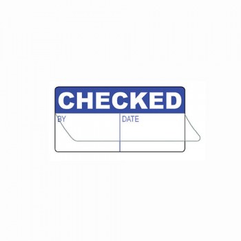 CHECKED BY (WRITE & SEAL) LABEL
