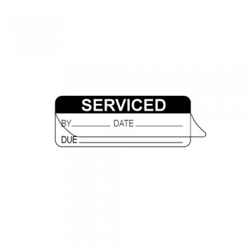SERVICED BY (WRITE & SEAL) LABEL