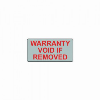 WARRANTY VOID IF REMOVED LABEL (SILVER VOID)