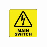 MAIN SWITCH LABEL