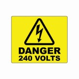DANGER - 240 VOLTS LABEL