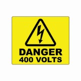 DANGER - 400 VOLTS LABEL